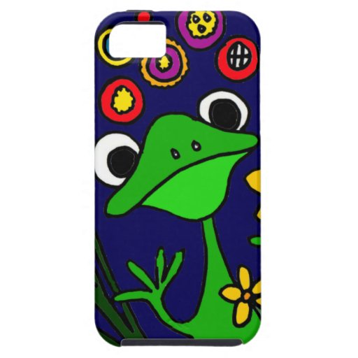 XW- Folk Art Frogs Design iPhone SE/5/5s Case