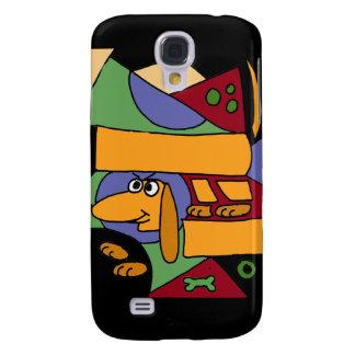 XW- Funny Dachshund Abstract Art Samsung Galaxy S4 Case