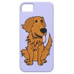 XW- Funny Golden Retriever Dog Design iPhone 5 Cover
