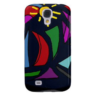XW- Sailboats Abstract Aert Design Galaxy S4 Cover
