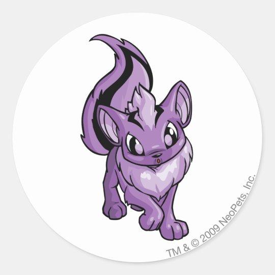 Xweetok Purple Classic Round Sticker
