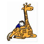 XX abrazo de la jirafa Tarjetas Postales