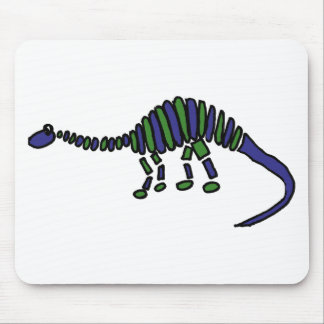 XX- Abstract Art Brontosaurus Dinosaur Mouse Pad