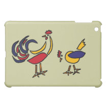 XX- Abstract Art Chicken and Rooster iPad Mini Case