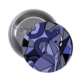 XX- Abstract Art Elephant Pinback Button