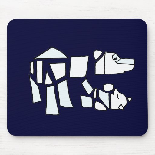 XX- Abstract Art Polar Bear and Baby Mouse Pad