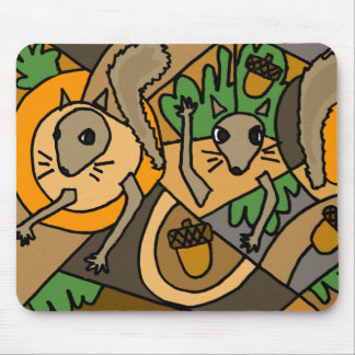 XX- Abstract Art Squirrels Mouse Pad