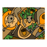 XX- Abstract Art Squirrels Postcards