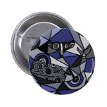 XX- Abstract Art Whales 2 Inch Round Button