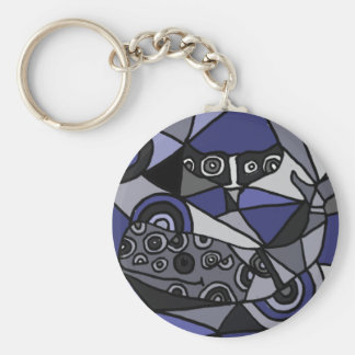 XX- Abstract Art Whales Keychain