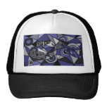 XX- Abstract Art Whales Mesh Hats
