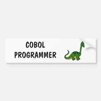XX- Adorable Cute Dinosaur Cartoon Bumper Sticker