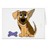 XX- Adorable German Shepherd Puppy Dog Cartoon Cards