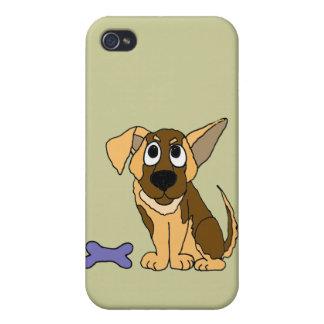XX- Adorable German Shepherd Puppy Dog Cartoon iPhone 4/4S Case