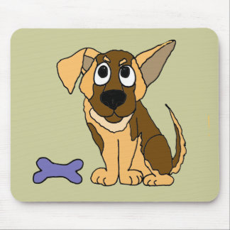 XX- Adorable German Shepherd Puppy Dog Cartoon Mouse Pad