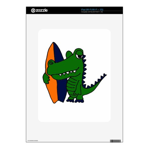 XX- Alligator Surfer Dude Skin For The iPad