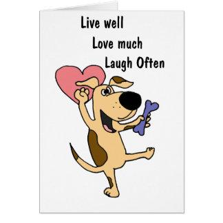 XX amor de baile del perro de perrito Felicitaciones