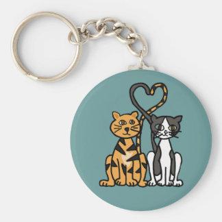 XX amor impresionante del gato del gatito Llavero Redondo Tipo Pin