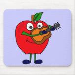 XX Apple que juega el dibujo animado de la guitarr Tapete De Ratones