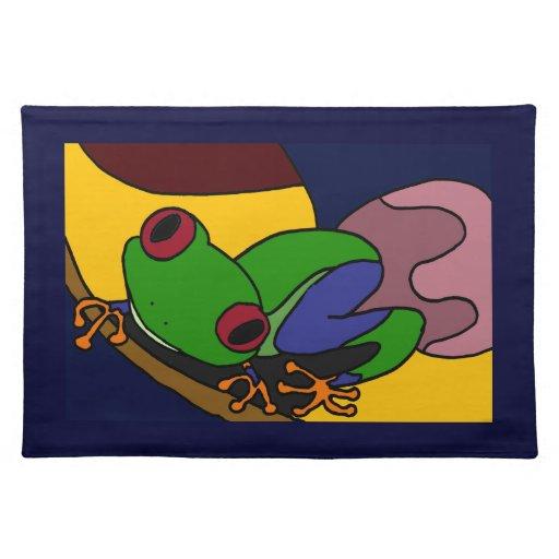 XX arte abstracto de la rana arbórea Mantel Individual