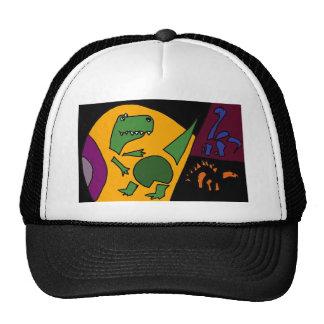 XX arte abstracto del dinosaurio Gorros Bordados