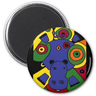 XX arte abstracto del hipopótamo Iman