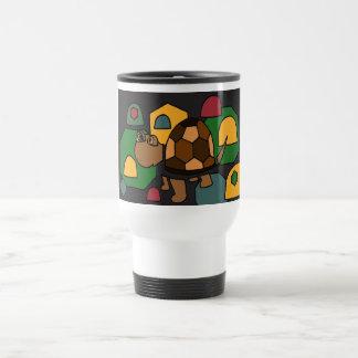 XX arte abstracto lindo de la tortuga de caja Tazas De Café