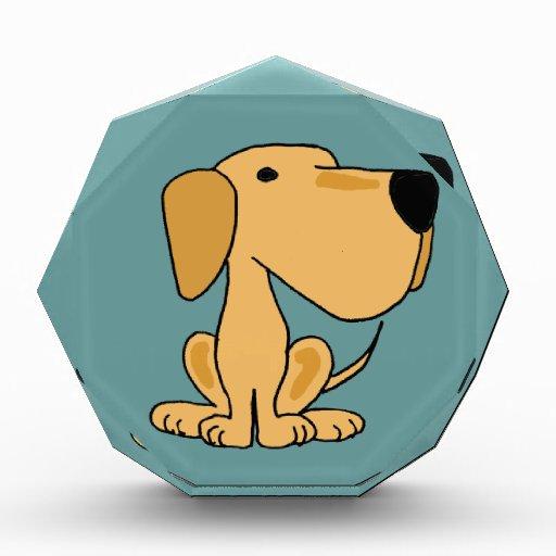 XX arte amarillo divertido del perro de Labrador
