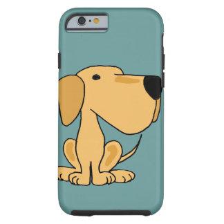 XX arte amarillo divertido del perro de Labrador Funda De iPhone 6 Tough
