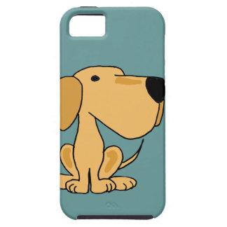 XX arte amarillo divertido del perro de Labrador iPhone 5 Cárcasa
