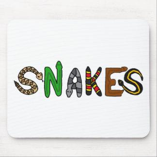 XX arte de las letras de las serpientes Mouse Pad