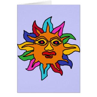 XX arte de Sun del mexicano Tarjeta De Felicitación