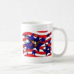 XX arte impresionante de la bandera del Día de la  Tazas De Café