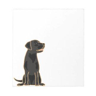 XX- Artistic Black Labrador Cartoon Note Pads