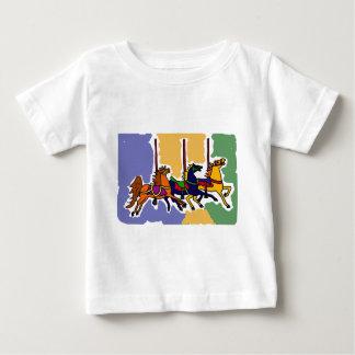 XX- Artistic Carousel Horses Folk Art Baby T-Shirt