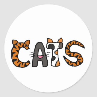 XX- Artistic CATS Design Classic Round Sticker