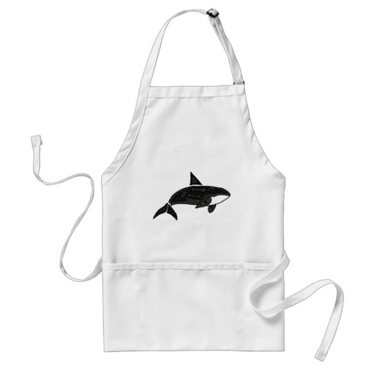 XX- Artistic Killer Whale Adult Apron