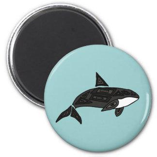XX- Artistic Killer Whale Fridge Magnets