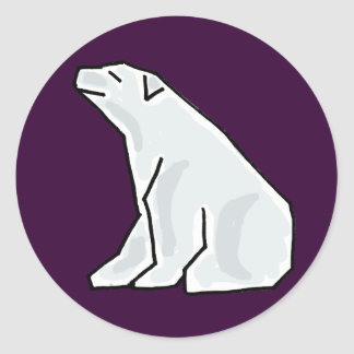 XX- Artistic Polar Bear Classic Round Sticker