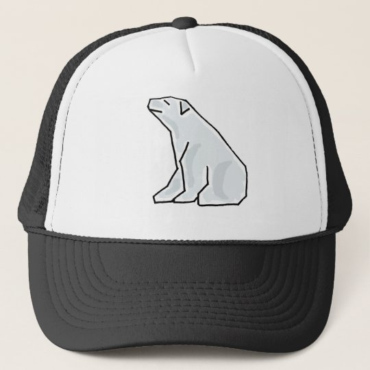 XX- Artistic Polar Bear Trucker Hat
