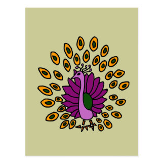 XX- Awesome Abstract Art Peacock Postcard