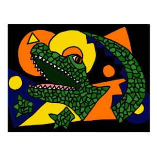 XX- Awesome Alligator Art Postcard
