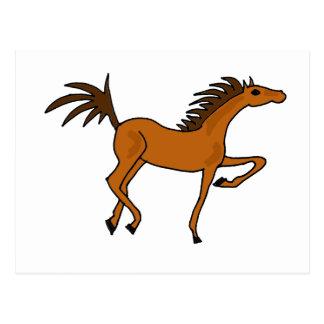 XX- Awesome Bay Horse Cartoon Postcard