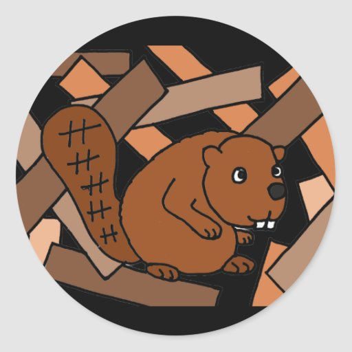 XX- Awesome Beaver Art Sticker