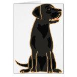 XX- Awesome Black Labrador Retriever Design Greeting Cards