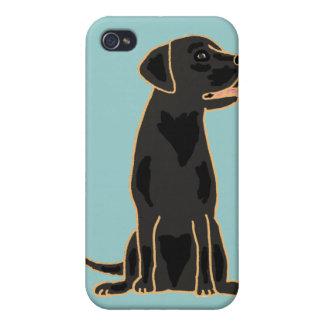 XX- Awesome Black Labrador Retriever Design iPhone 4/4S Cases