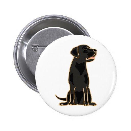 XX- Awesome Black Labrador Retriever Design Pin