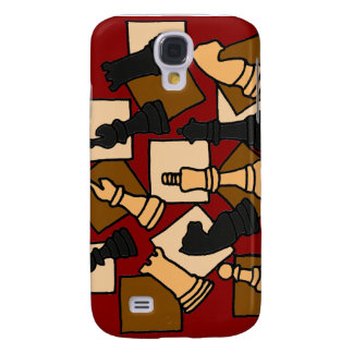XX- Awesome Chess Game Pieces Art Samsung Galaxy S4 Cover
