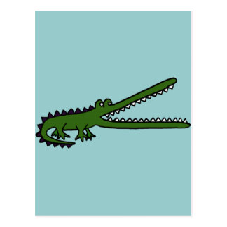 XX- Awesome Crocodile Postcard