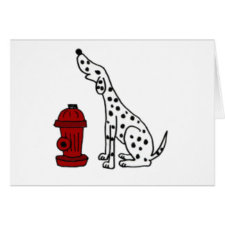 XX- Awesome Dalmatian Dog and Fire Hydrant Greeting Card
